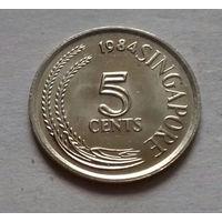 5 центов, Сингапур 1984 г., AU