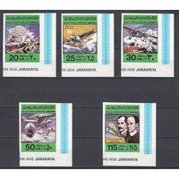 Авиация. Самолеты. Ливия. 1978. 5 марок б/з (полная серия). Michel N 682-686 (3,6 е).