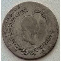 Австрия 20 крейцер 1826