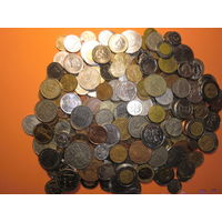 280 шт. монет мира без Украины, СССР, России с 1 руб