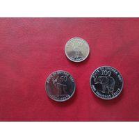 Эритрея 3 монеты 1991