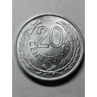 10 сентесимо 1965 Уругвай