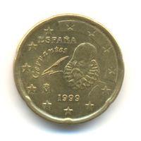 Испания 20 евро центов 1999 г. Собор Св. Якова.