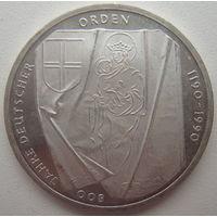 Германия 10 марок 1990 г. 800 лет Тевтонскому Ордену