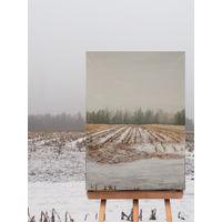 """Стерня"", картина маслом на холсте, формат 50х70, 2020 год"