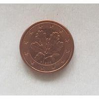 1 евроцент 2002 Германия F