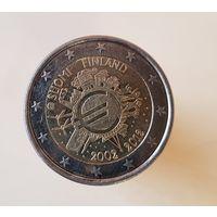 2 евро Финляндия 2012 10 ЛЕТ НАЛИЧНОМУ ОБРАЩЕНИЮ ЕВРО
