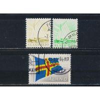 Финляндия Аланды Автономная провинция 1984 Рыбацкая лодка Флаг #1,2,4