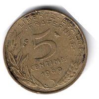Франция. 5 сантимов. 1969 г.