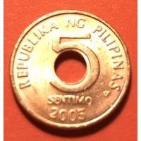 Филиппины 5 сентимо 2005г.