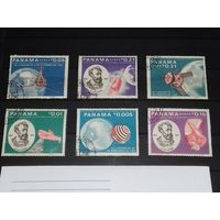 Панама 1966 Космос Жюль Верн Космические корабли. Полная серия 6 марок
