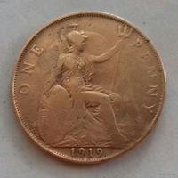 1 пенни, Великобритания 1919 г., Георг V