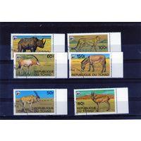 WWF Фауна на марках Чада