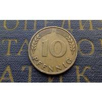 10 пфеннигов 1950 (J) Германия ФРГ #11