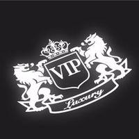 Стикер - наклейка на автомобиль,  VIP Лион Светоотражающий виниловый . распродажа