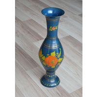 Большая расписная ваза.латунь.высота 40 см.