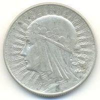 5 злотых 1933 года (королева Ядвига). Серебро. Без МЦ!