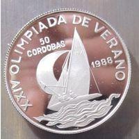 Никарагуа. 50 кордоб 1988. Серебро (395)