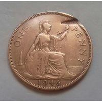 1 пенни, Великобритания 1946 г., Георг VI
