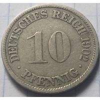 Германия 10 пфеннигов, 1902      F     ( 6-5-4 )