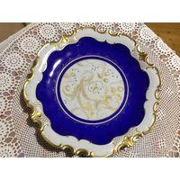 Тарелка-Блюдо Райская Птица Роспись золотом Германия 32 см