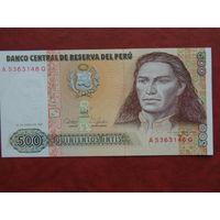 Перу 500 интис 1987 UNC.