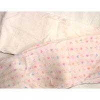 Капроновые колготки белые в нежные разноцветные сердечки на девочку 4-7 лет, б/у 1 раз, без дырок и стрелок. Состояние 9 из 10