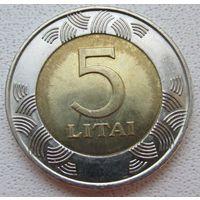 Распродажа! Литва 5 лит 2009 Все монеты с 1 рубля!!