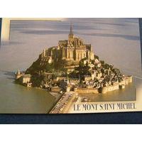 Мон Сен-Мишель  знаменитый остров-крепость, расположенный в Нижней Нормандии, Франция 2001