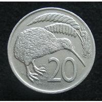 Новая Зеландия 20 центов 1976