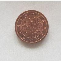 1 евроцент 2002 Германия J
