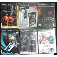Игры ( 6 шт. ) для  Sony PlayStation 2  б/у набор 4