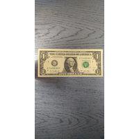 1$ США 2013 года серии G (красивый номер 51651619)