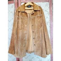 Ретро. Женский замшевый пиджак-куртка, TCM TCHIBO, S