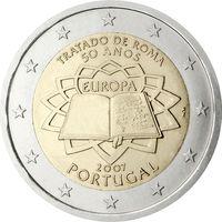 2 евро Португалия 2007 50 лет подписания Римского договора UNC из ролла