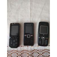 Мобильные телефоны 3 штуки разные неисправные на запчасти
