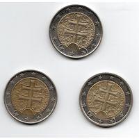 2 евро Словакия
