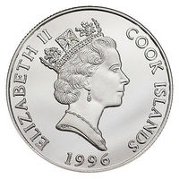 2доллара Острова Кука Серебро 1996