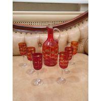 Сервиз для напитков графин и рюмки СССР 60 х полный комплект