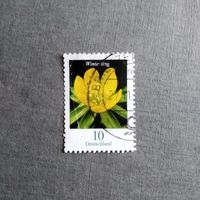 Марка Германия 2017 год Цветы