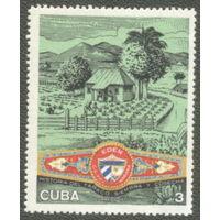 Куба 1970. Производство сигарного табака. Марка из серии, чист.
