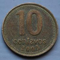 Аргентина, 10 сентаво 2005 г