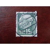 Саар 1957 Земли Германии Saar