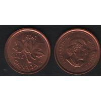 Канада _km490 1 цент 2006 год km490 не магнит ZnCu (-) (f32)**