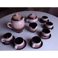 Продам новый глиняный кофейный сервиз