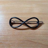 """Заколка """"Бесконечность"""" (черная) - в наличии 2 шт"""