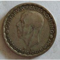 Швеция 1 крона 1947 серебро