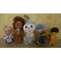 Игрушки резиновые ссср, игрушка ссср, баба яга, негритенок, девочка с мишкой