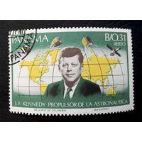 Панама 1966 г. Космос. Кеннеди, 1 марка #0058-K1
