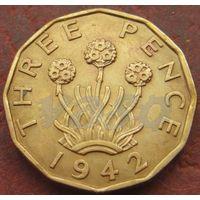 352**  3 пенса 1942 Британия